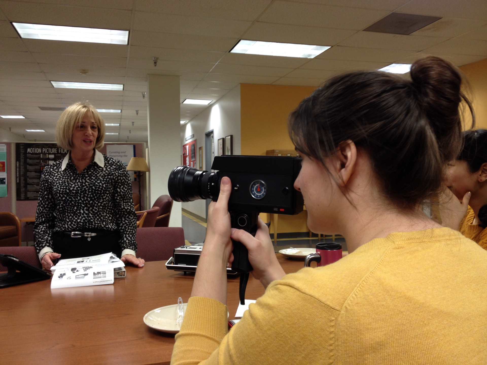Staci Hogsett (MIAS '15) and Rhonda Vigeant talk Super8 tech - January, 2015